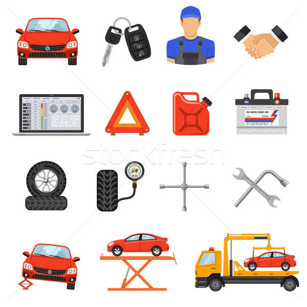 Car Service Set Vector Icons Stock photo © -TAlex-
