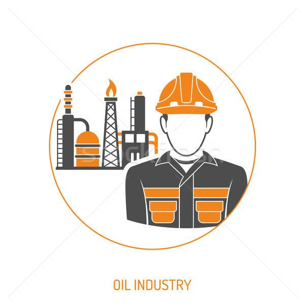 Przemysł naftowy rafineria oleju benzyny dwa kolor Zdjęcia stock © -TAlex-