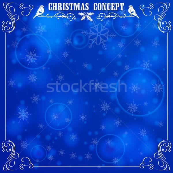 Retro Christmas Frame Stock photo © -TAlex-