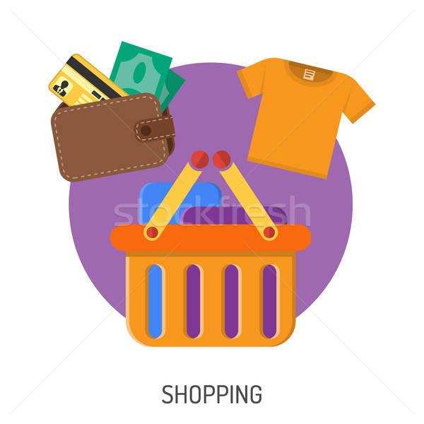 インターネットショッピング アイコン eコマース お金 ウォレット バスケット ストックフォト © -TAlex-