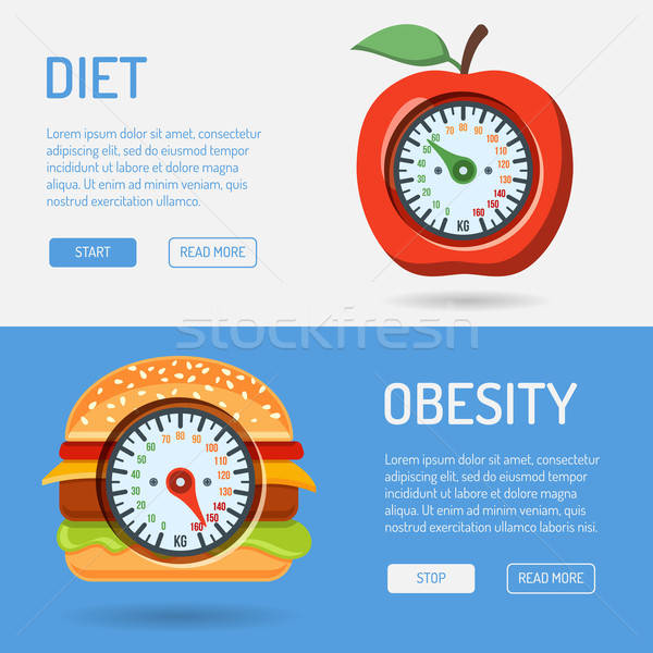 Diet and Obesity Concept Stock photo © -TAlex-