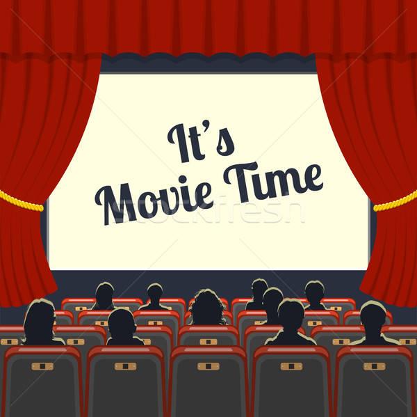 Cinéma auditorium public icônes fond cadre Photo stock © -TAlex-