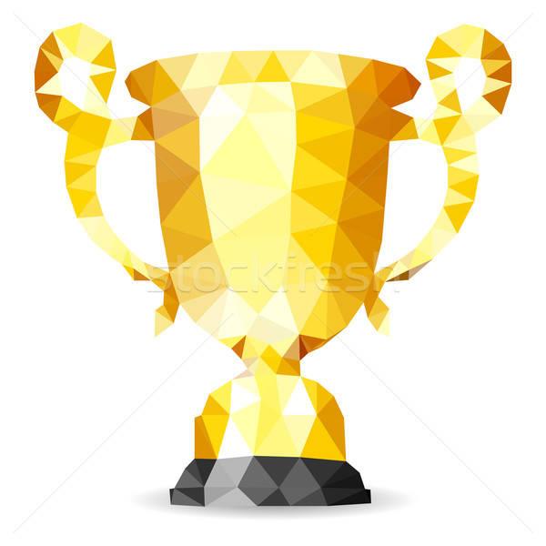 Goud trofee mozaiek patroon vector geïsoleerd Stockfoto © -TAlex-