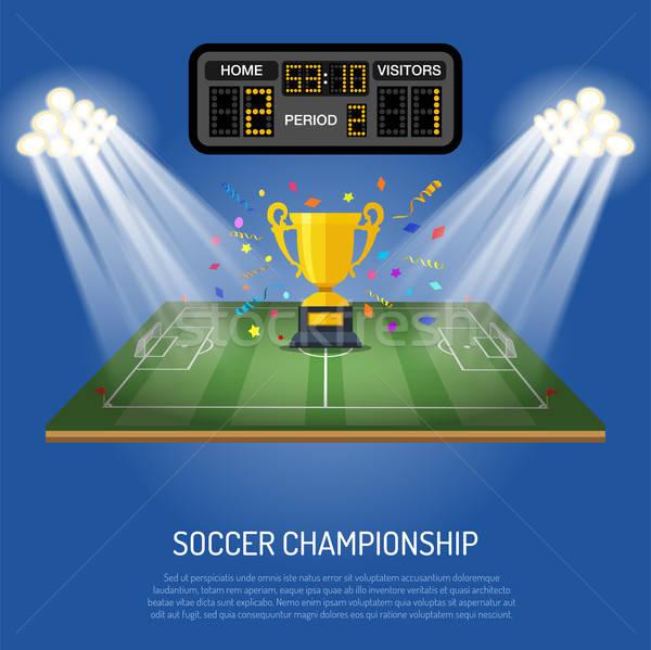 Futbol stadyum sayı tahtası simgeler spot gol Stok fotoğraf © -TAlex-