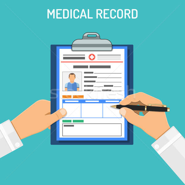 Medical record concept Stock photo © -TAlex-