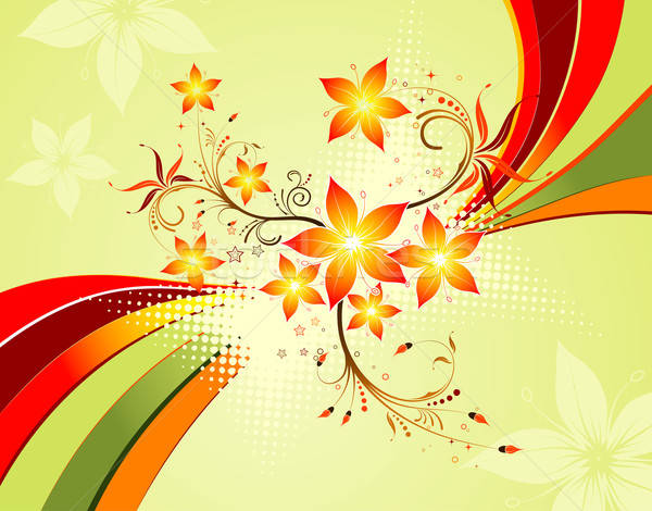 Virág hullámok minta alkotóelem terv textúra Stock fotó © -TAlex-