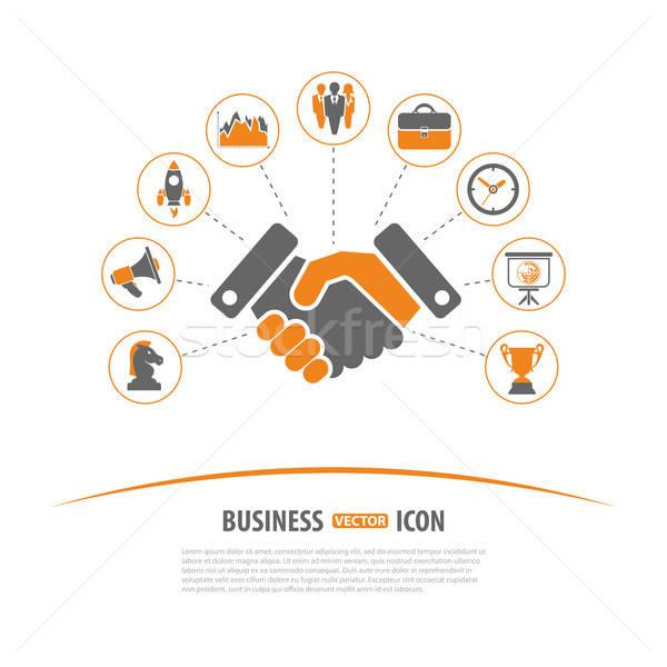Estratégia de negócios vetor dois cor financiar Foto stock © -TAlex-