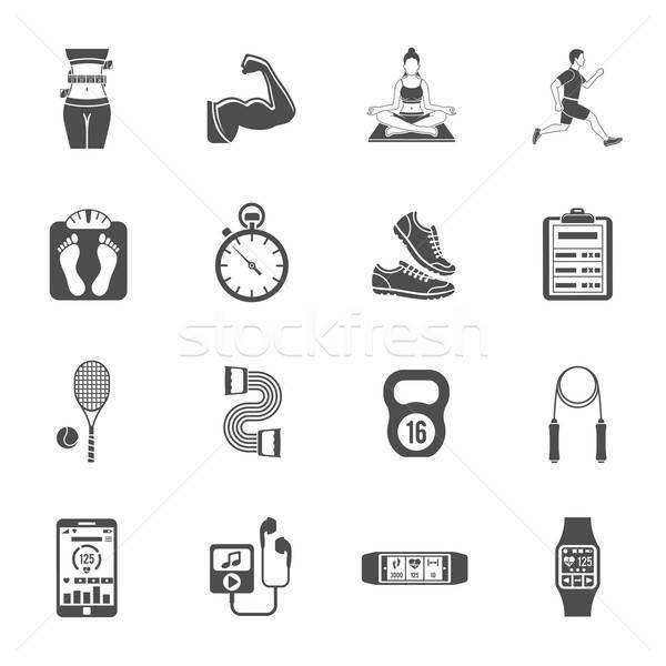 Fitness Icon Set Stock photo © -TAlex-