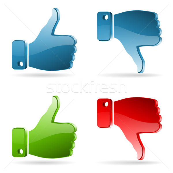 Set Social Media Sticker Stock photo © -TAlex-