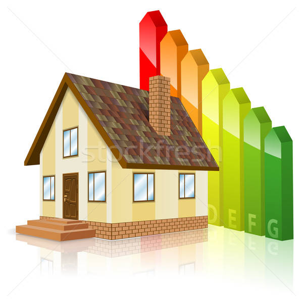 Home with Energy Efficiency Rating Stock photo © -TAlex-