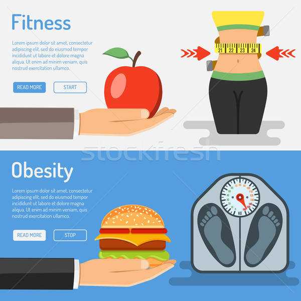 Healthy Lifestyle and Obesity Concept Stock photo © -TAlex-
