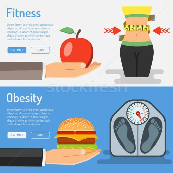 Obesidade móvel aplicações publicidade Foto stock © -TAlex-