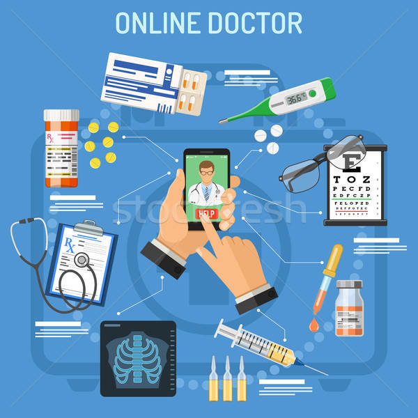 Online doctor concept Stock photo © -TAlex-