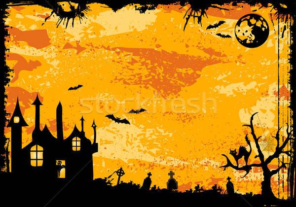 Halloween marco grunge bate fantasma elemento Foto stock © -TAlex-