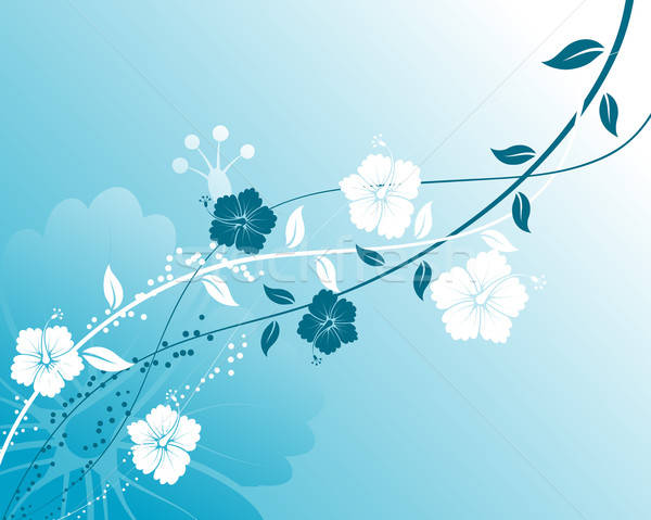 Resumen floral elemento diseno flor fondo Foto stock © -TAlex-