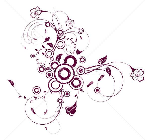 Abstract chaos cirkels element ontwerp Stockfoto © -TAlex-