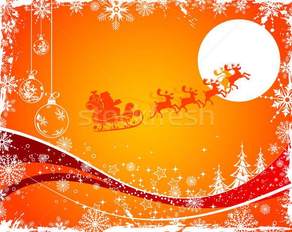 Karácsony absztrakt mikulás alkotóelem terv textúra Stock fotó © -TAlex-