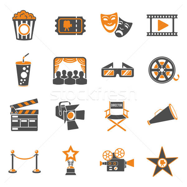 Stock photo: Cinema and Movie Icons Set