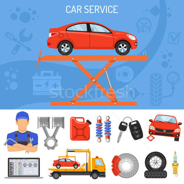 Car Service Banner Stock photo © -TAlex-