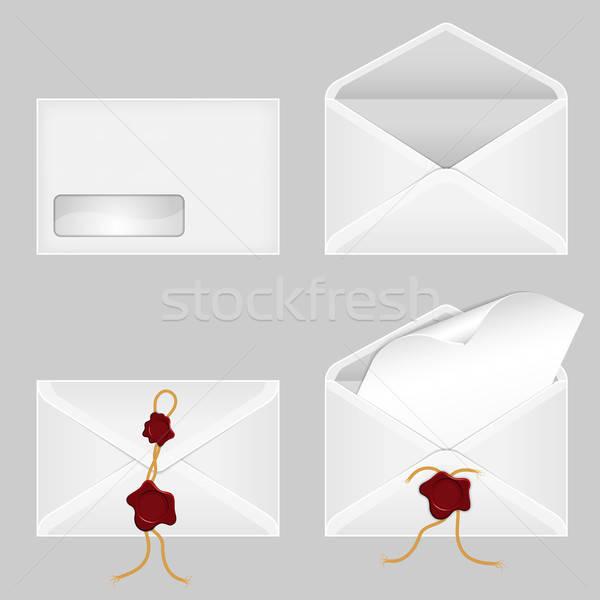 Szett lap papír viasz internet biztonság Stock fotó © -TAlex-
