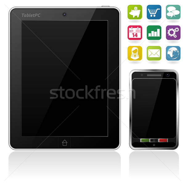 Tablet PC and Mobile Phone Stock photo © -TAlex-