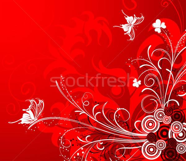 Virágmintás virág pillangó alkotóelem terv természet Stock fotó © -TAlex-