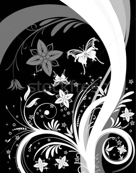 Fiore farfalla modello onda elemento design abstract Foto d'archivio © -TAlex-