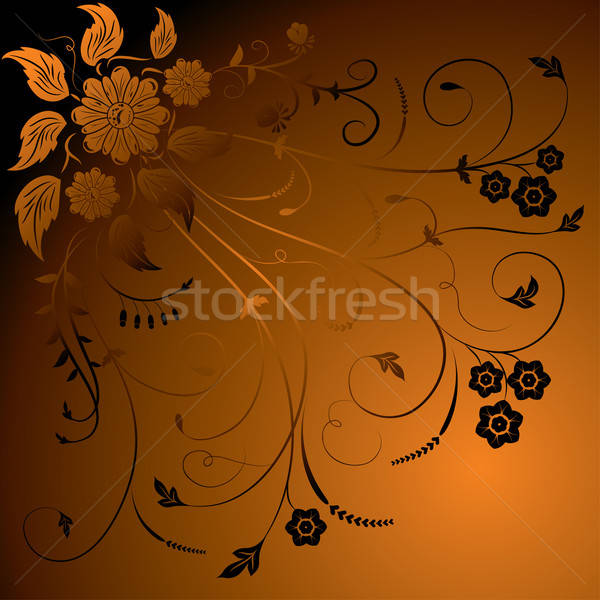 Floral background, elements for design, vector Stock photo © -TAlex-