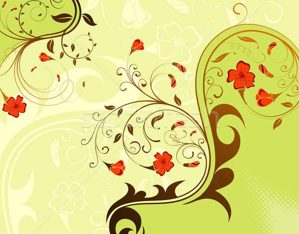Virág alkotóelem terv tavasz absztrakt levél Stock fotó © -TAlex-