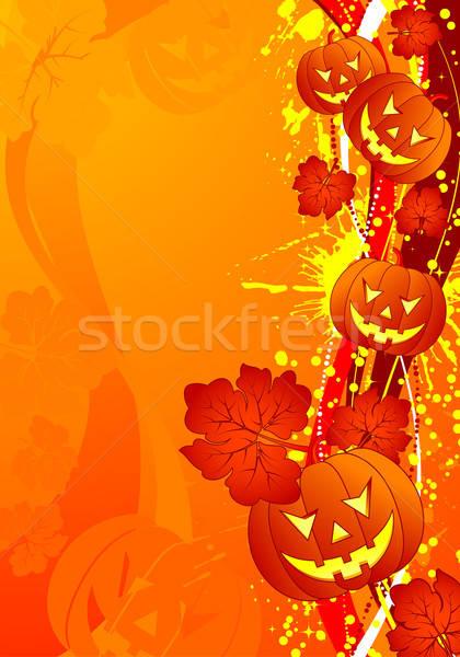 Halloween grunge wzór fali projektu Zdjęcia stock © -TAlex-