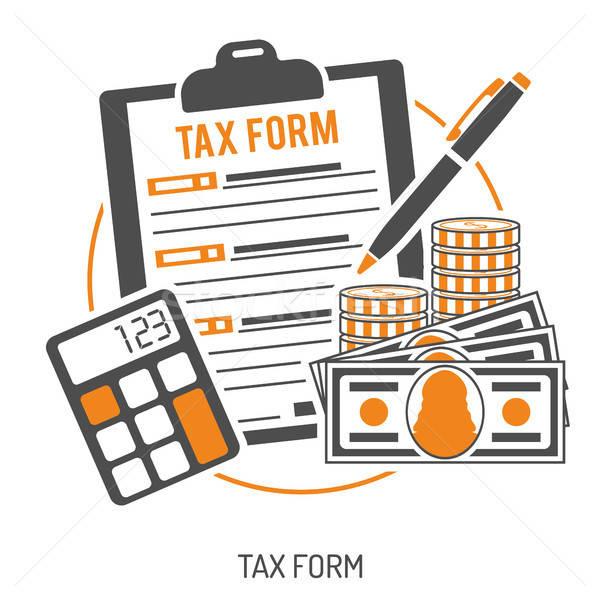 Impôt calcul paiement comptables paperasserie gouvernement Photo stock © -TAlex-
