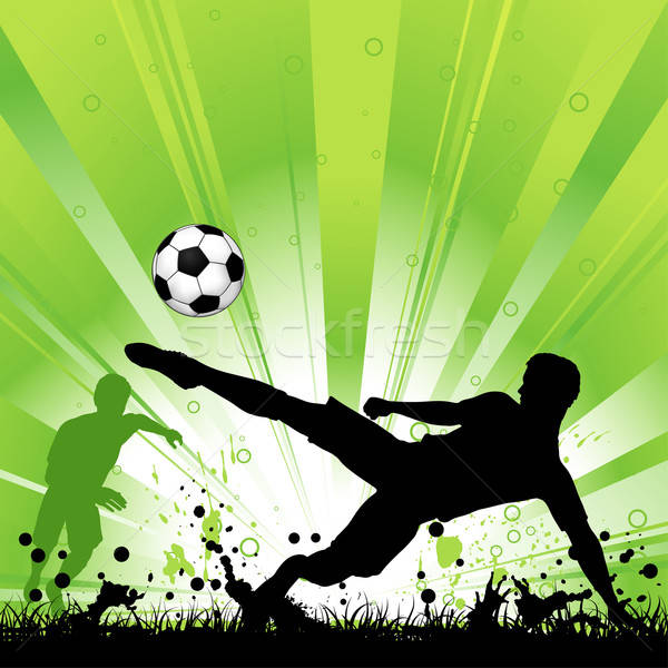 Soccer Player on Grunge Background Stock photo © -TAlex-