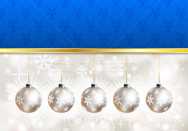 Photo stock: Noël · flocons · de · neige · babiole · élément · design · résumé