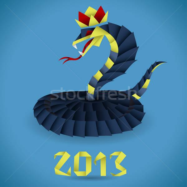 Carta origami serpente 2013 anno colorato Foto d'archivio © -TAlex-