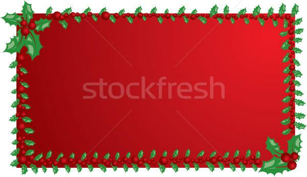 Christmas mistletoe frame, elements for design, vector Stock photo © -TAlex-
