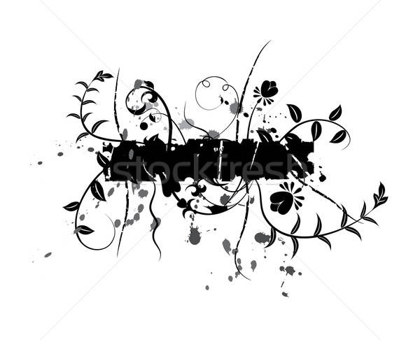 Abstract floral background, elements for design, vector Stock photo © -TAlex-