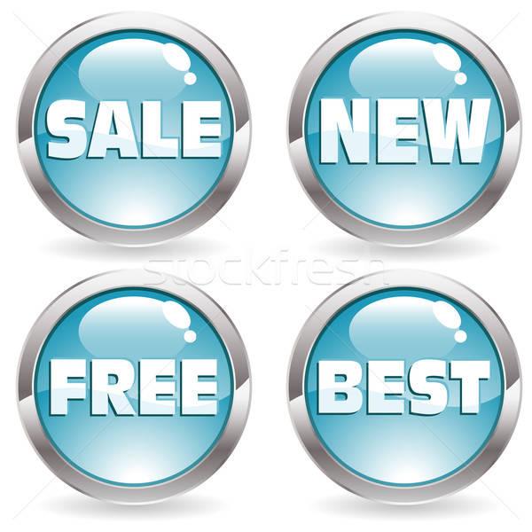 Set sale button Stock photo © -TAlex-