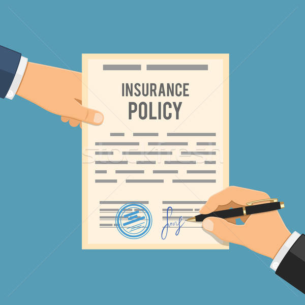 Man signs insurance policy Stock photo © -TAlex-