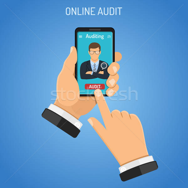 Online Auditing, Tax, Accounting Concept Stock photo © -TAlex-