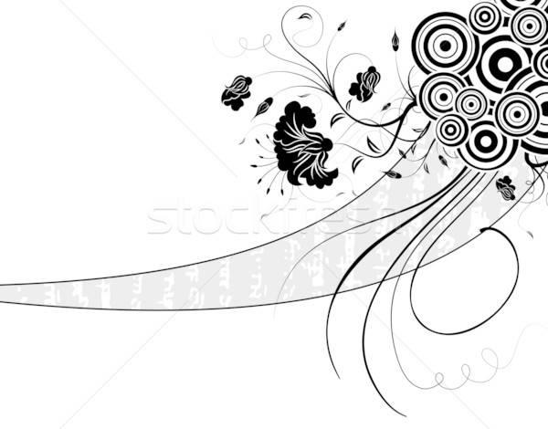 Abstrato floral caos círculos elemento projeto Foto stock © -TAlex-