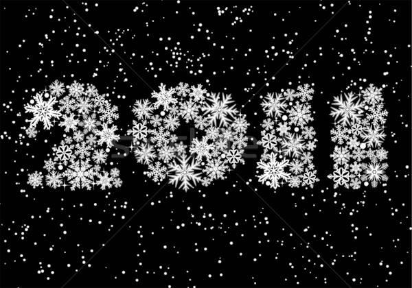 Navidad estilizado 2011 año elemento diseno Foto stock © -TAlex-