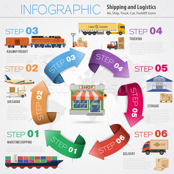 Freight Transport Infographics Stock photo © -TAlex-