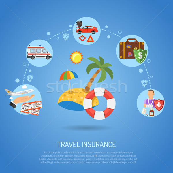 Travel Insurance Infographics Stock photo © -TAlex-