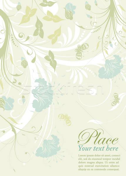 Bloem decoratie vlinder element ontwerp abstract Stockfoto © -TAlex-