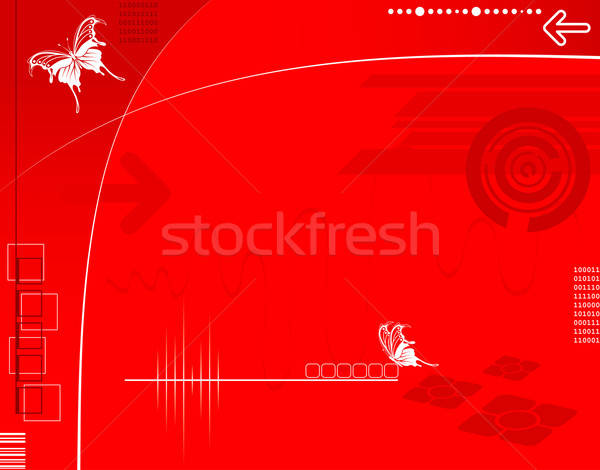 Absztrakt high tech nyilak pillangó alkotóelem terv Stock fotó © -TAlex-