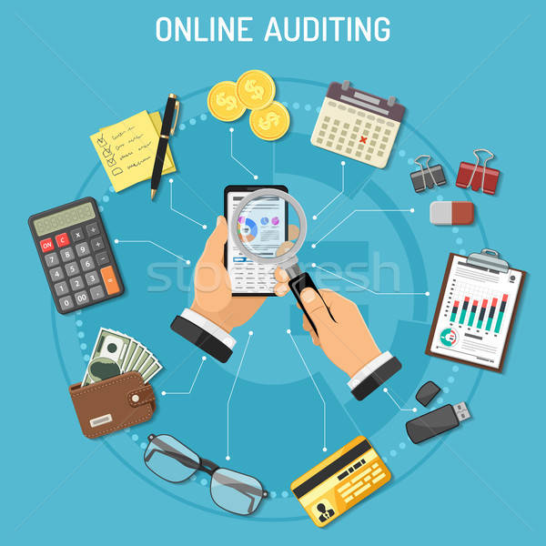 Online Auditing, Tax process, Accounting Concept Stock photo © -TAlex-