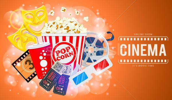 Cinema film banner tempo icone bobina Foto d'archivio © -TAlex-