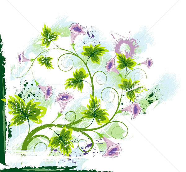 Resumen floral caos grunge pintura elemento Foto stock © -TAlex-
