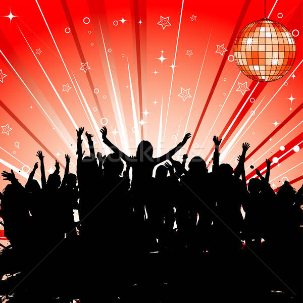 Party Vorlage Silhouetten Element Design Stock foto © -TAlex-