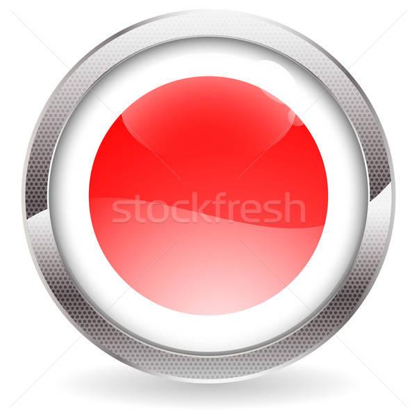 Glans knop Japan vlag cirkel Stockfoto © -TAlex-
